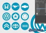 logos automoviles marcas plano estilo - Logos de Automóviles con Estilo Flat Design