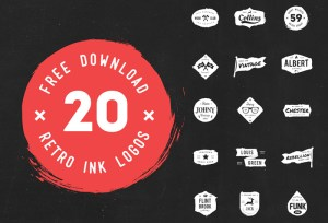 logos disenos gratis - 20 Diseños de Logos Gastados en Vectores