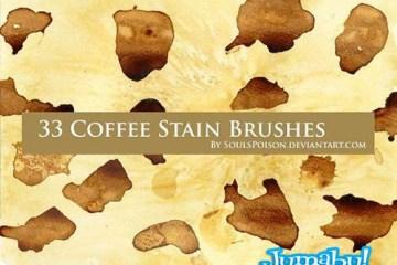 manchas de cafe en psd brushes - Pinceles de Photoshop o Brushes de Manchas de Café