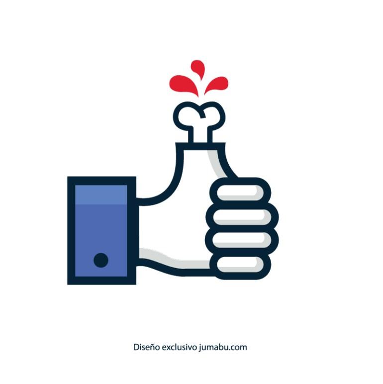 mano facebook jumabu com - Icono de like facebook monstruoso