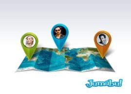 mapas en photoshop elementos localizacion - Mapa y Elementos de Ubicación en PSD