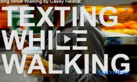 mensajeando mientras caminamos - Caminás y escribís mensajes de texto?
