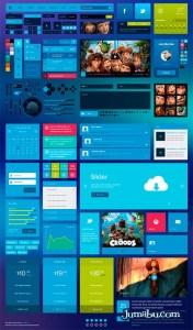 metro flat ui photoshop elementos - Photoshop Elementos para Diseño de Interfaz de Usuario