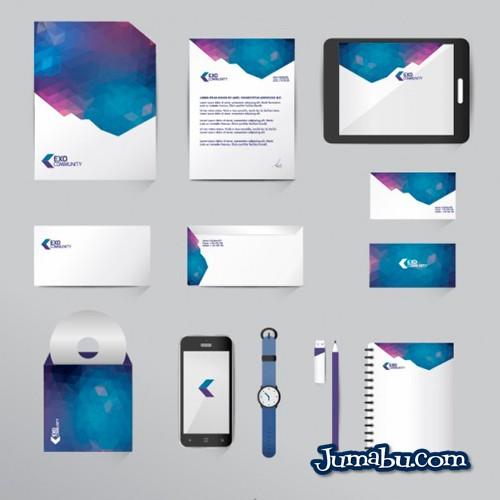 mock up papeleria empresa - Mock Up de Papelría Comercial Moderna Vectorizada