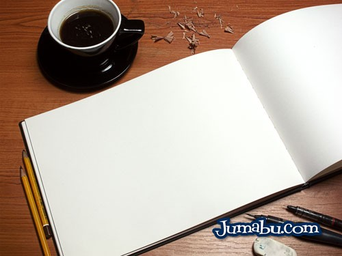 mock up template cuaderno ilustracion - Plantilla Mock Up de Cuadernito de Ilustraciones