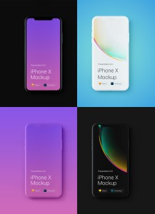 mockup iphone x gratis - iPhone X Mockups en PSD para descargar