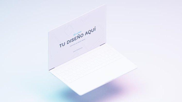 mockup mackbook blanco mate - Fantásticos Mockups de distintos dispositivos en color blanco mate