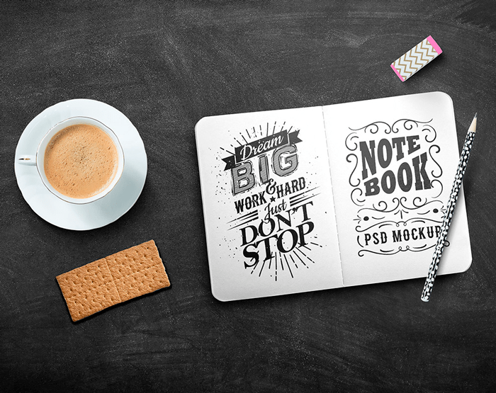 mockup-sketchbook-board
