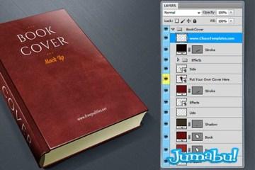mockup tapa libros psd photoshop - Mock Up Tapa de Libros en PSD