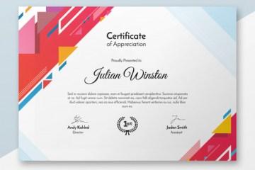 modelo de certificado gratuito - Modelo de certificado en PSD para imprimir