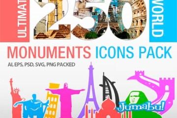 monumentos historicos vectorizados - Monumentos de todo el Mundo en Vectores