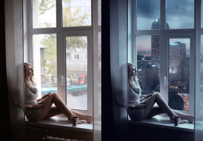mujer en ventana con photoshop - Mujeres, paisajes, niños, antes y después de aplicarle photoshop!