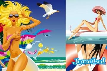 mujeres-mallas-sexy-beach-mar-arena