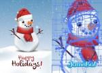muneco de nieve vectorizado - Muñeco de Nieve Vectorizado para Descargar