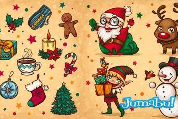 navidad dibujos a mano - Recursos Navideños Dibujados a Mano en Vectores