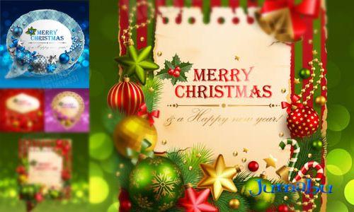 navidad frames vector - Diseños Navideños para invitaciones