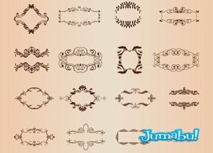 ornamentales bordes vintage - Fileteados o Arabescos Ornamentales Vintage en Vectores