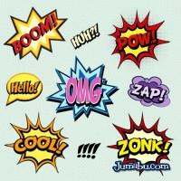 Onomatopeyas en Vectores Comics
