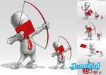 envio-mensajes-flecha-sobre-arroba