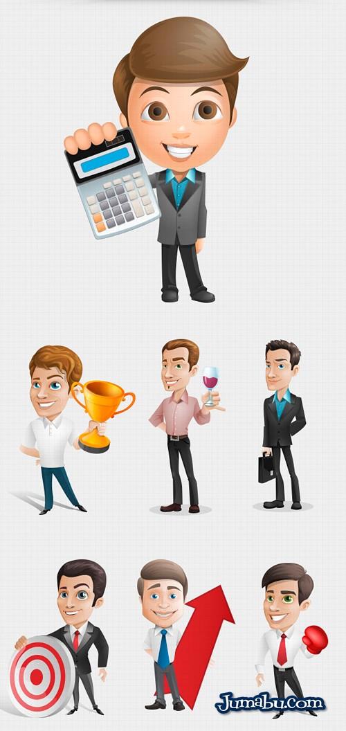 personajes hombres de negocios - Dibujos de Hombres de Negocios para Descargar