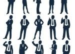 personas de negocios vectores - Siluetas de Personas Vestidas de Traje en vectores