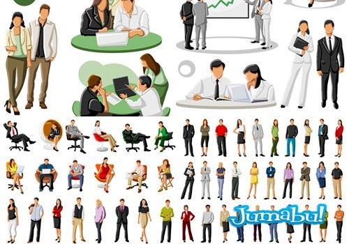 dibujos en vectores de personas en acciones de oficina