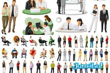 personas dibujos oficina - Dibujos en Vectores de Personas en Acciones de Oficina!