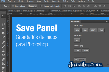 photoshop extension guardados - Save Panel - Extensión para Guardar Fácilmente con Photoshop