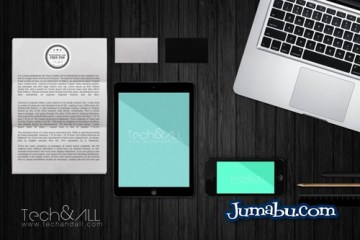 plantilla 3d notebook mockup - Dispositivos Móviles Mock Up en Photoshop