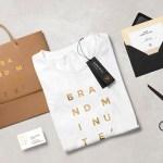 plantilla mockup bolsa logo - Mockup de una bolsa y una playera para descargar gratis