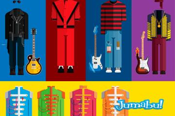 posters musicos vectores - Iconos de la Música en Vectores