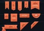 ribbons psd vectores - PSD con Ribbons de Distintas Formas y Tamaños