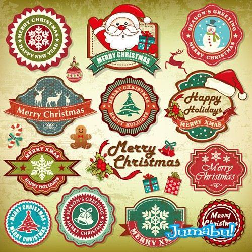 santa navidad - Etiquetas Navideñas para Nuestros Diseños de Fin de Año!
