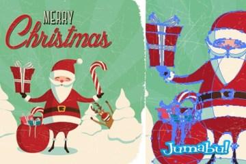 santa papa noel vectorizado - Papá Noel en Vectores para Descargar