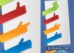 senaladores manos vectores labels - Ribbons en PSD para Descargar Gratis con Forma de Señalador