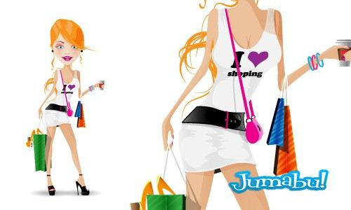 shopping-mujeres-vectores