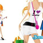 shopping mujeres vectores - Mujer de Shopping Vectorizada