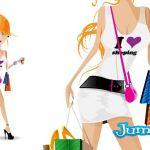 shopping mujeres vectores - Mujer de Shopping Vectorizada