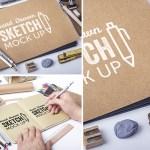 sketchbook mockup - Plantilla para Presentar tus Dibujos en un Sketchbook