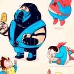super heroes gordos - Super Héroes Gordos en JPG o Vectores