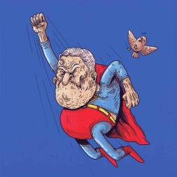 superman anciano - Caricaturas de superhéroes ancianos