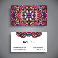 Modelos de tarjetas personales para descargar con mandalas