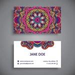 tarjetas personales con mandalas - Modelos de tarjetas personales para descargar con mandalas