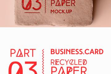 tarjetas personales material reciclado - Mock Up de Tarjetas Personales con Material Reciclado