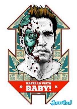 terminator estampa playera - Estampas para tus playeras con la cara de Terminator