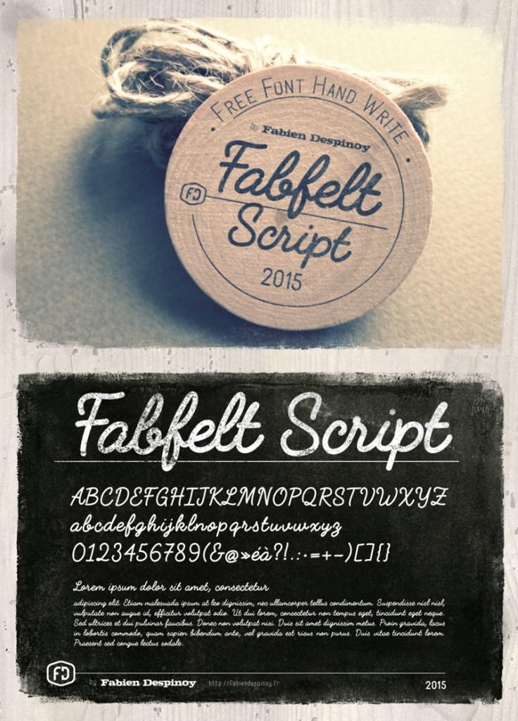 tipografia gratuita script 736x1024 - Fabfelt script - tipografía gratuita!