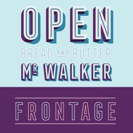 tipografia outline gratuita descargar - Frontage outline condensed gratis