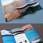 triptico realista mockup - Mockup para hacer un tríptico realista aplicando tu diseño