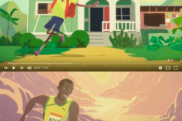 usain bolt dibujitos corto - El Niño que aprendió a volar - Corto animado