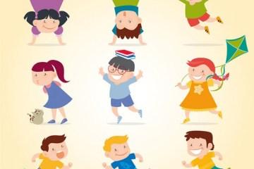 vectores de ninos divirtiendose escuela - Vectores de Niños Jugando